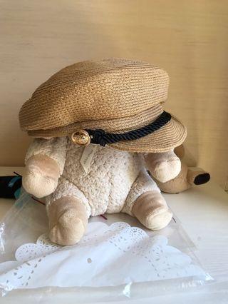 韓製 夏日草編報童帽