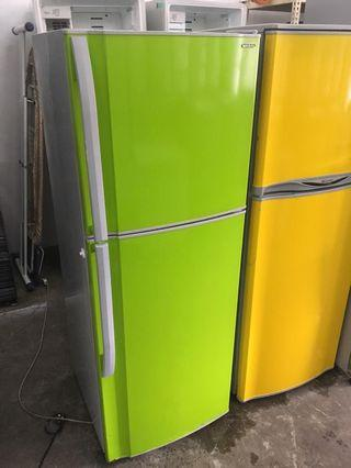 Sharp Apple Green Refrigerator Fridge Peti Sejuk Freezer