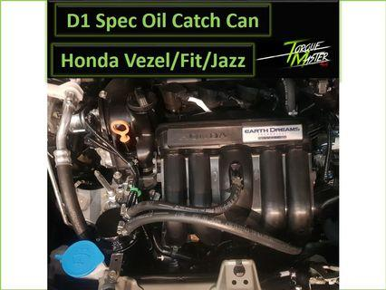 D1 Spec Oil Catch Can for Honda vezel/Fit/Jazz/Freed with Upgraded hose and Installation