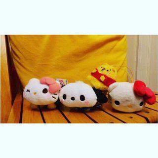 Hello Kitty PC狗 小熊維尼 掛飾公仔