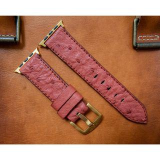 Apple watch strap / band Ostrich leather, Apple watch strap / band 42mm, Apple watch strap / band 38mm, Apple watch strap / band men, Apple watch strap / band leather