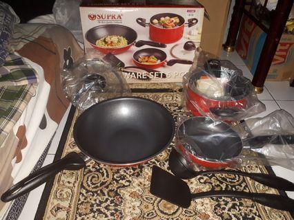 Cookware set supra dan tempat makan