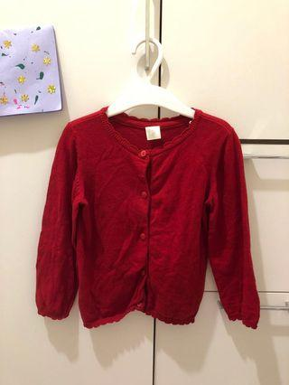 H&M 紅色針織外套