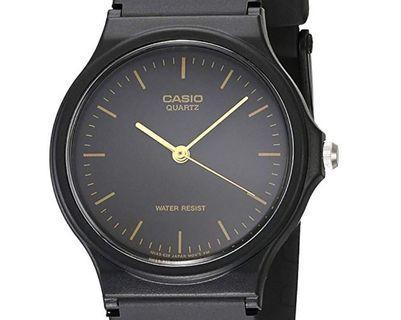 Casio MQ24 black resin watch
