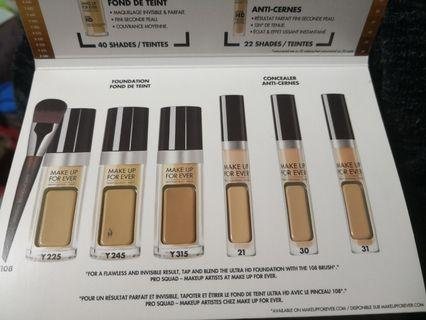 Make up forever Foundation concealer sample