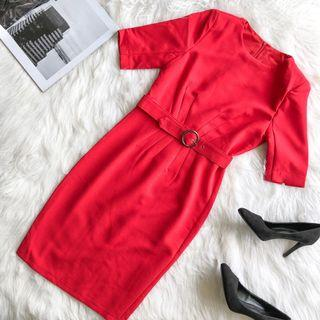 Prim and Proper Red Fitted Dress