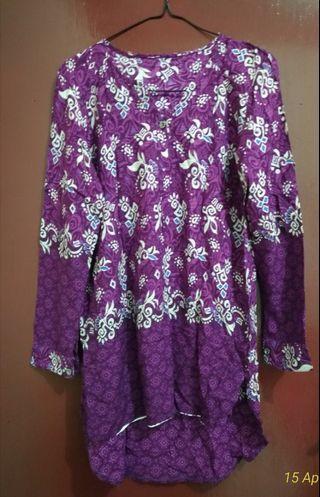 Kemeja Batik Wanita. Bisa untuk Ibu Hamil.