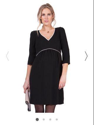 Seraphine Black Maternity Dress UK8