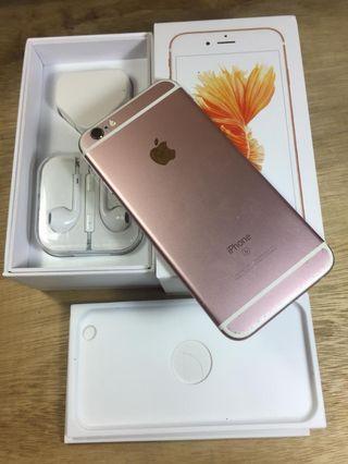 Iphone 6s 64gb rosegold Fullset ex inter normal lancar