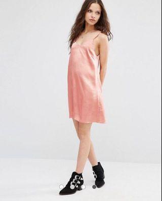 Peach Cami Slip Dress