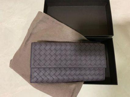 BNIB Bottega Veneta Intrecciato Nappa French Wallet