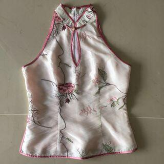 Cut in embroidery Cheongsam Top sexy #endgameyourexcess