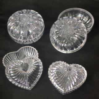 4 Pcs. Accessories Plastic Box - 2 styles