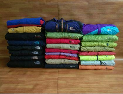 Borongan jaket outdoor gunung second bekas original
