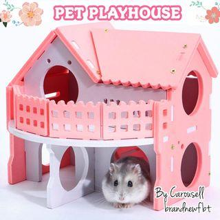 Pet house wooden playhouse hamster mice squirrel small pet