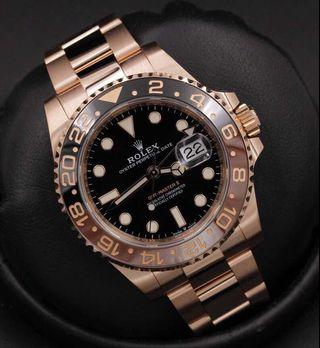 Rolex GMT Master II SOLID GOLD ROOTBEER
