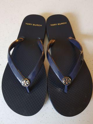 Authentic Tory Burch Navy Slippers