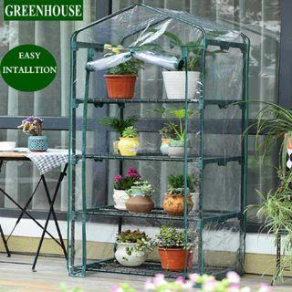 Greenhouse portable 4-tier shelves