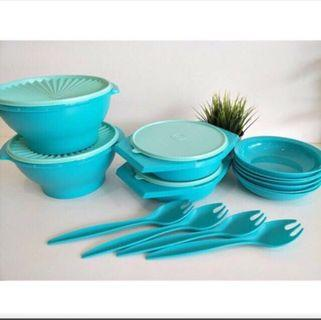 Tupperware Joy keeper Fullset  included 8pcs plates