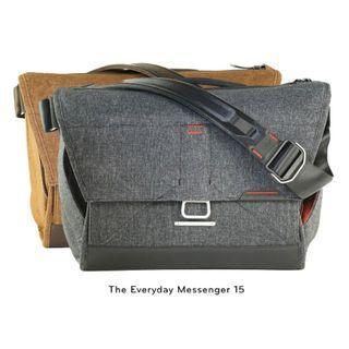 "Peak Design Everyday Messenger Bag 15"" Large - Heritage Tan or Charcoal *NEW*"