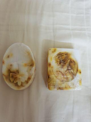 Homemade aleo vera soap