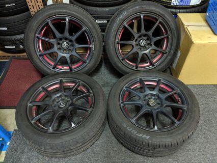 "4 RacingSport 16"" Rims + 4 16"" Tyres"