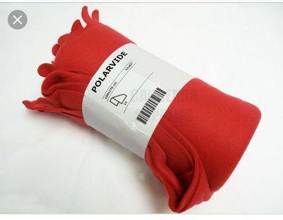 IKEA polarvide Red Fleece Blanket Throw #endgameyourexcess