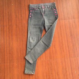 Grey Pinkish Jeans