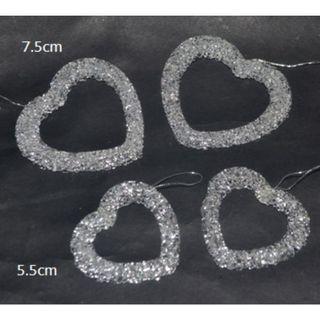 4 Pcs. Heart Ornament -7.5cm and 5.5cm