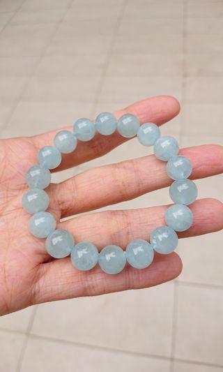 10mm 海藍寶水晶手鏈