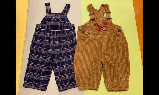 Bb 工人褲款 2條 (1-2 歲)