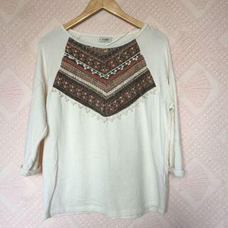 PULL&BEAR CREAM LONGSLEEVES