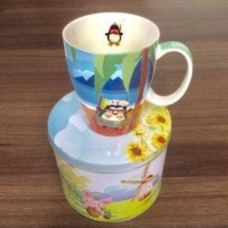 Cup With Tin Coin Bank