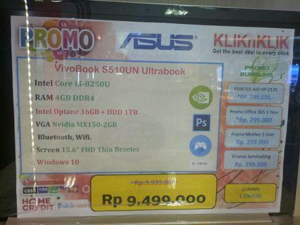 Dijual Laptop ASUS S510UN Bisa Cicilan Tanpa Kartu Kredit