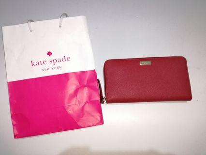 New with paper bag Authentic Kate Spade Red Wallet