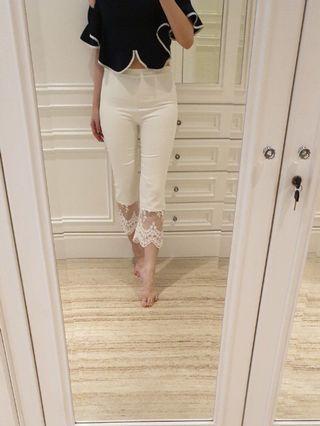 Valentino white lace pants (7/8)