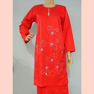 Baju Kurung Vietnam Cotton With Beads