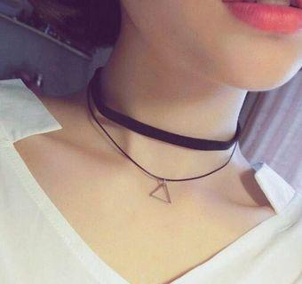 Choker Necklace Set New Women Bohemia Sexy Black Leather Choker Necklace Jewelry