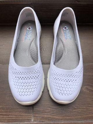 White Skechers Memory Foam Shoes