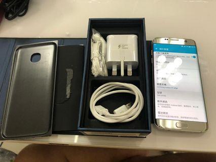 95%新Samsung s7 edge 32gb 銀色 全套全新配件  香港行貨, 雙卡,4G
