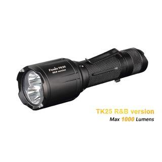 Fenix TK25 XP-G2 S3 1,000 Lumens R&B Version with Long Distance Red & Blue Hunting Light
