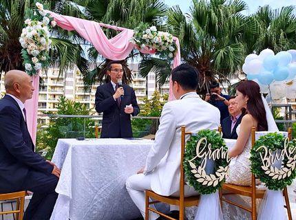 Solemnisation wedding decoration at W Hotel