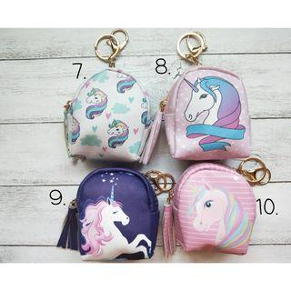 Unicorn coin purse with keychain