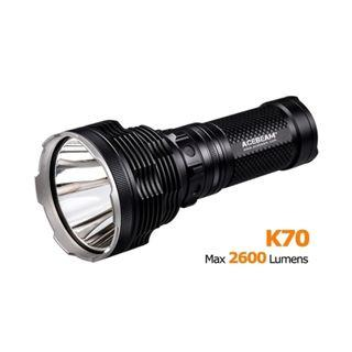 Acebeam K70 XHP-35 HI 2,600 Lumens 1,300 Meters Rotary Ring Super Thrower