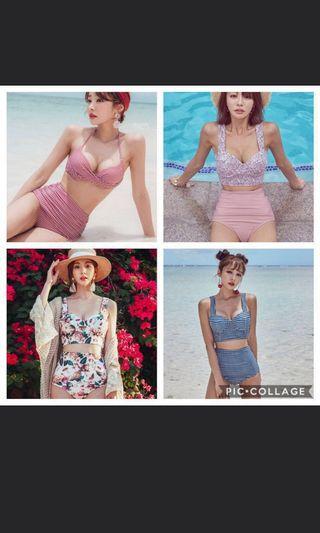 Highwaist bikini bustier