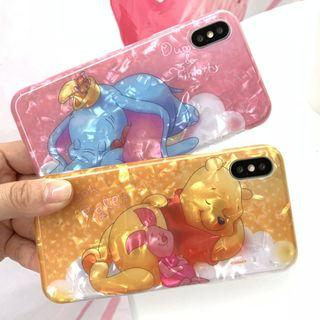(X)手機殼IPhone6(s)/7/8/Plus/XR/X(S)/MAX : 貝殼紋小飛象/維尼熊