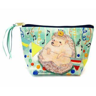 刺蝟 Hedgehog 化妝袋 Aya Tokumitsu Hedgehog Cosmetic Bag 日本製造 (包平郵或本地郵局自取)