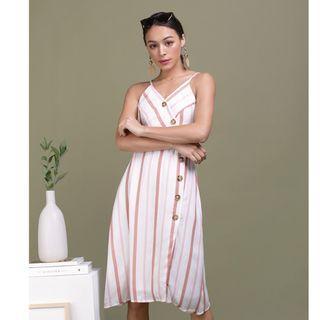 Becca Button Spag Dress L Size