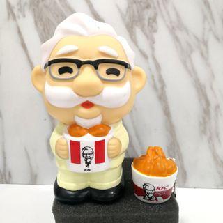 Original Japan KFC Kentucky Coin Bank Saving Box + Keychain