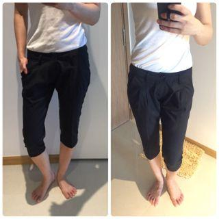 Low waist hipster black crop 3/4 pants #endgameyourexcess